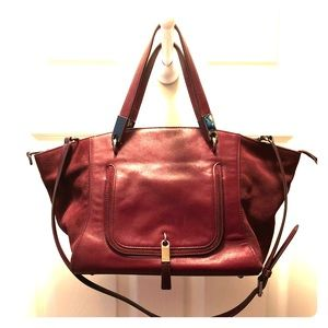 Burgundy Ralph Lauren Handbag 👜